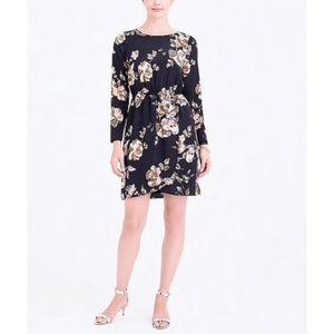 NWOT J. Crew Floral Faux Wrap Dress Size 12